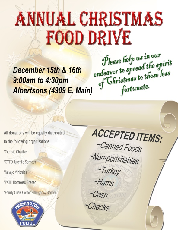 FPD Christmas Food Drive 2018